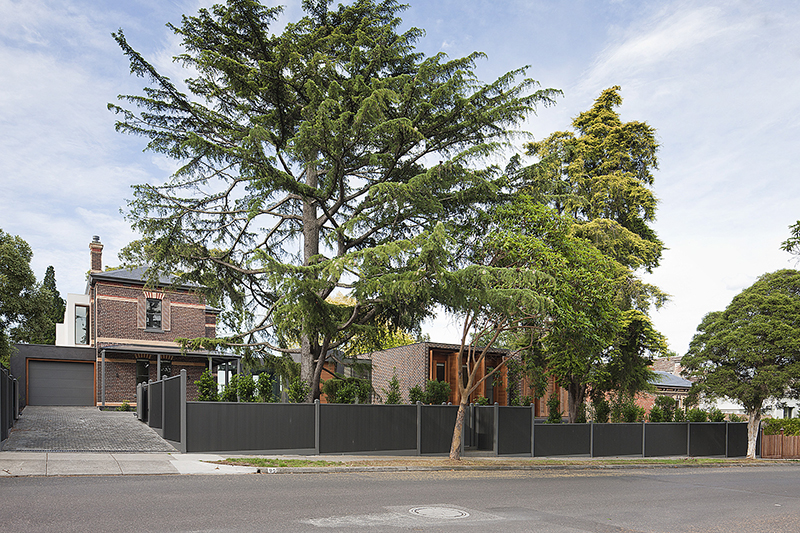 Rob Mills Architecture & Interiors' Kew Residence viewed from the street